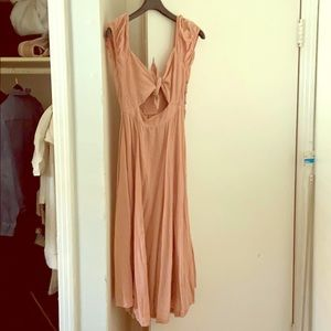 Free People Blush Linen Dress